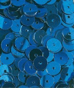 Pailletten zum Aufnähen, irisierend in dunkelblau