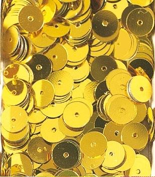 Pailletten zum Aufnähen, irisierend in goldgelb