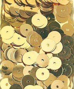 Pailletten zum Aufnähen, irisierend in gold