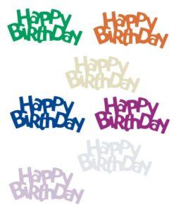 Pailletten Happy Birthday bunt gemischt für Anlassdekoration