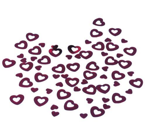 Pailletten Herzen in rot