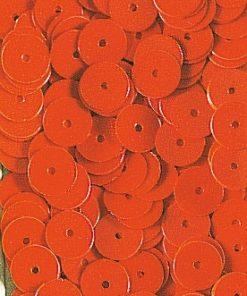 Pailletten zum Aufnähen, irisierend in orange