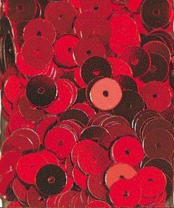 Pailletten zum Aufnähen, irisierend in rot