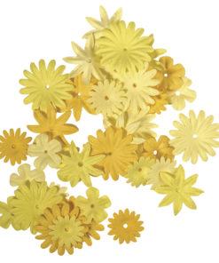 Rayher Papier-Blütenmischung gelb
