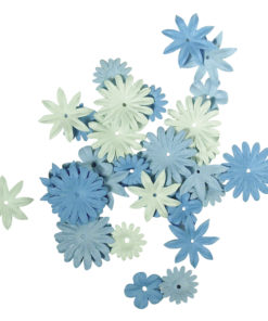 Rayher Papiier-Blütenmischung hellblau, sortiert