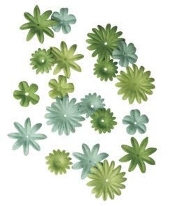Rayher Papier-Blütenmischung grün