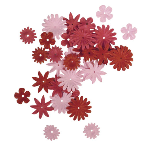 Rayher Papier-Blütenmischung rot