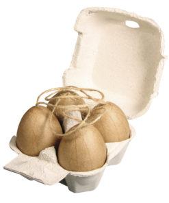 Pappmaché Eier in Eierpappe