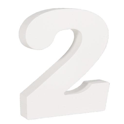 Rayher Pappmaché-Zahl 2 in weiß