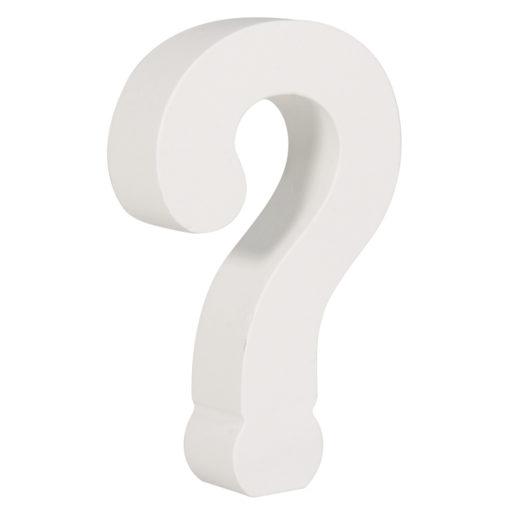 Rayher Pappmaché-Symbol ? in weiß