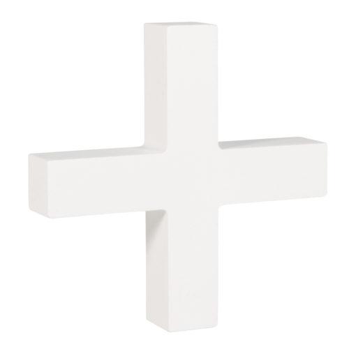 Rayher Pappmaché-Symbol +in weiß