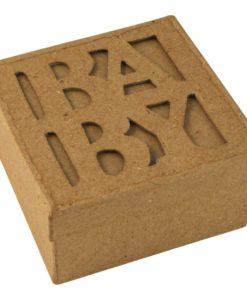 Rayher Passepartout-Schachtel Baby aus Pappmaché