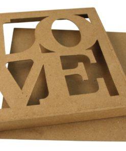 Rayher Passepartout-Schachtel Love aus Pappmaché