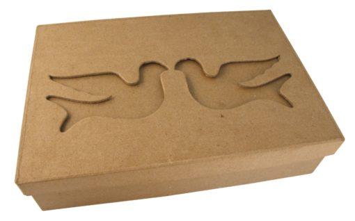 Rayher Passepartout-Schachtel Tauben aus Pappmaché