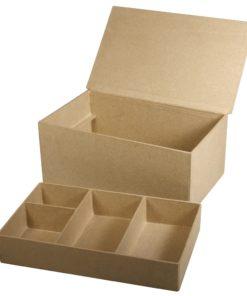 Papp-Box mit 5 Innenfächern zum Sortieren
