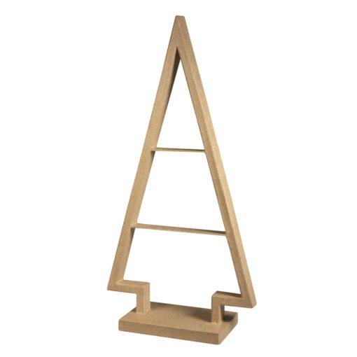 Rayher Tannenbaum-Rahmen aus Pappmaché, 39,5cm, zum Basteln