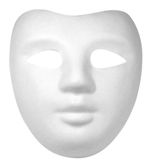 Rayher Pappmaché Halbmaske Gesicht, zum Dekorieren