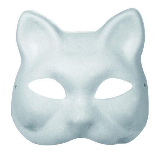 Rayher Pappmaché Halbmaske Katze, zum Dekorieren