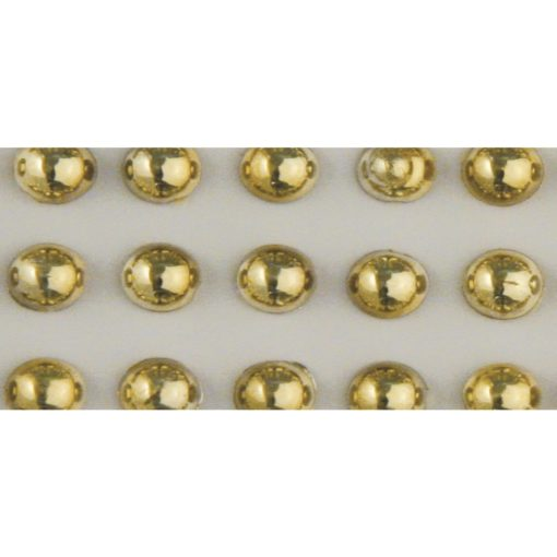Rayher Plastik-Halbperlen gold, Ø 3mm