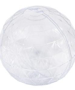 Rayher Plastikkugel 80mm, facettiert, zum Gestalten