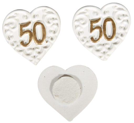 Herz mit Zahl 50