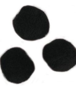 Plüsch-Pompons, uni schwarz, zum Basteln