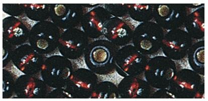 Rocailles mit Silbereinzug zur Schmuckgestaltung, dunkelbraun