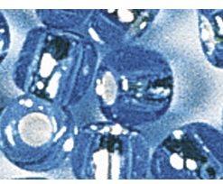 Rocailles mit Silbereinzug zur Schmuckgestaltung, hellblau
