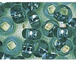 Rocailles mit Silbereinzug zur Schmuckgestaltung, jade