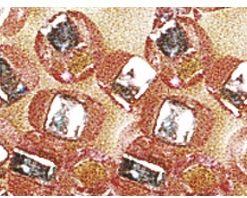 Rocailles mit Silbereinzug zur Schmuckgestaltung, rosé