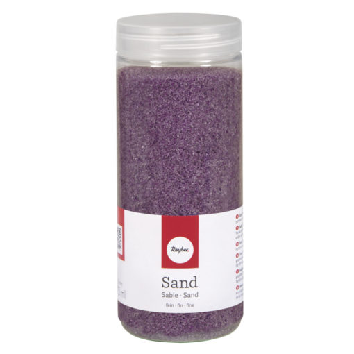 Deko Sand fein in lavendel