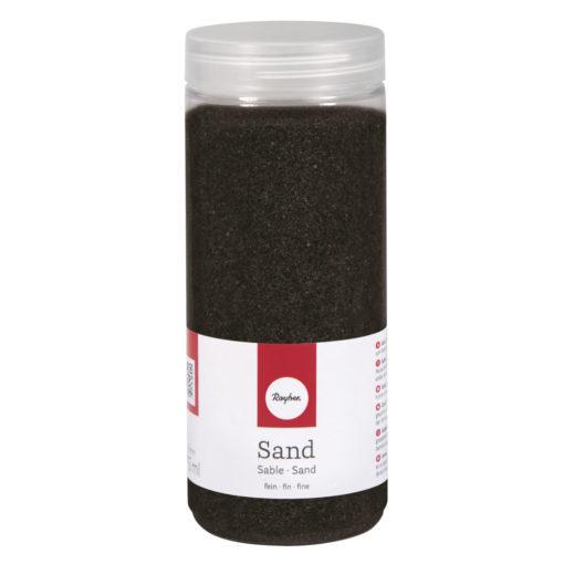 Deko Sand fein in schwarz