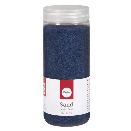 Deko Sand fein in royalblau