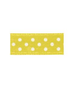 Rayher Satinband mit Punkte in gelb