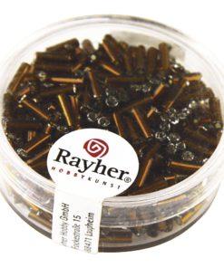 Glasstifte mit Silbereinzug zur Schmuckherstellung in dunkelbraun