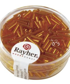 Glasstifte mit Silbereinzug zur Schmuckherstellung in orange