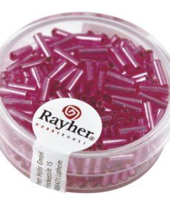 Glasstifte mit Silbereinzug zur Schmuckherstellung in pink