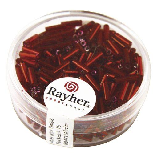 Glasstifte mit Silbereinzug zur Schmuckherstellung in rot