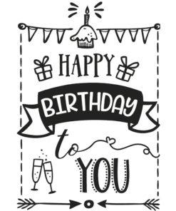 Rayher Schriftstempel Geburtstag