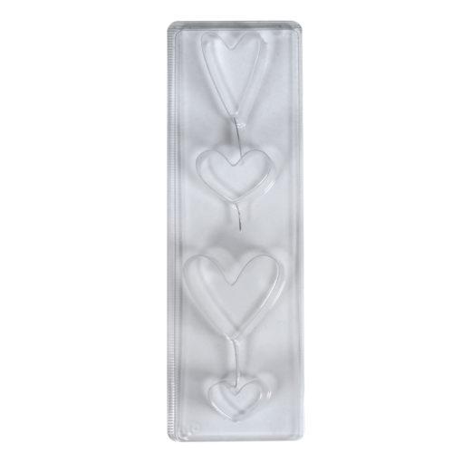Gießform Herzen, für Seife + Gießpulver