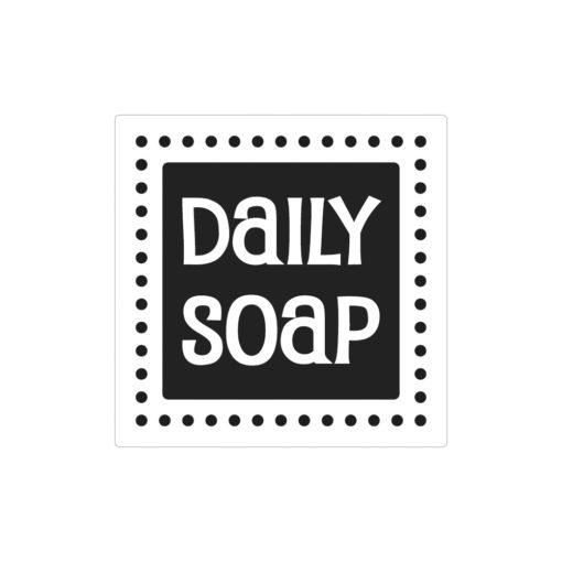 Seifenlabel Daily Soap, zum Eingießen von Motiven