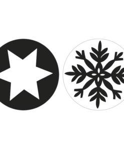 Seifenlabel Schneeflocke + Stern, zum Eingießen von Motiven