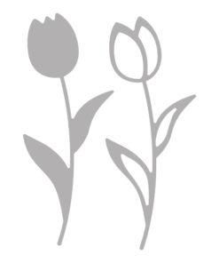 Stanzschablone Set Tulpen
