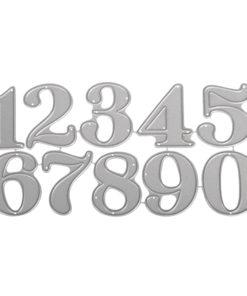 Stanzschablone Set Große Zahlen