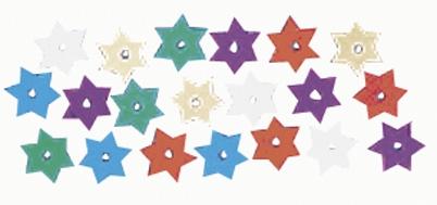 Pailletten, Sterne in bunten Farben