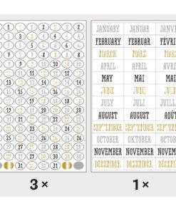 Rayher Sticker, Zahlen und Monate für Scrapbooking und Planer