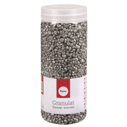 Deko Granulat in silber