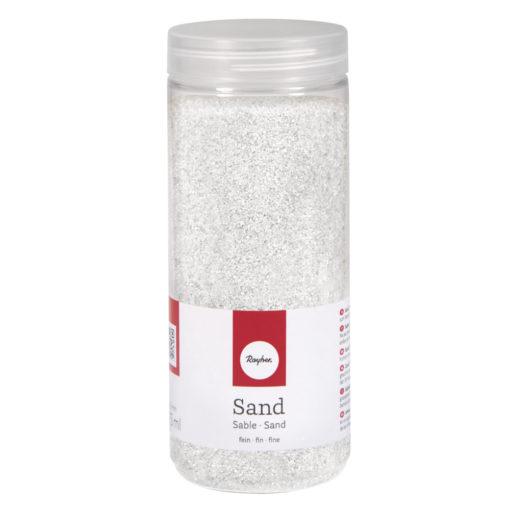 Deko Sand fein in weiß
