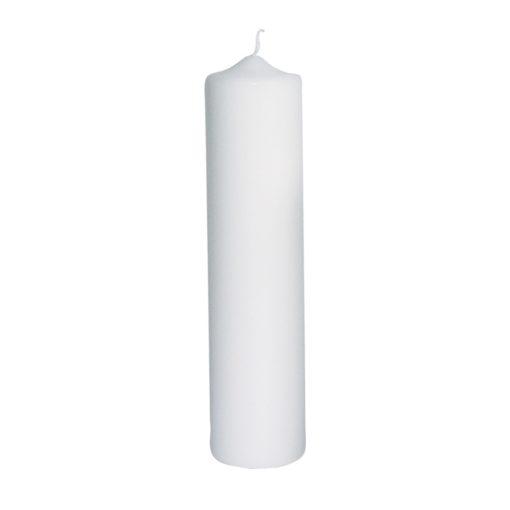 Rayher Stumpenkerze 25x6cm in weiß