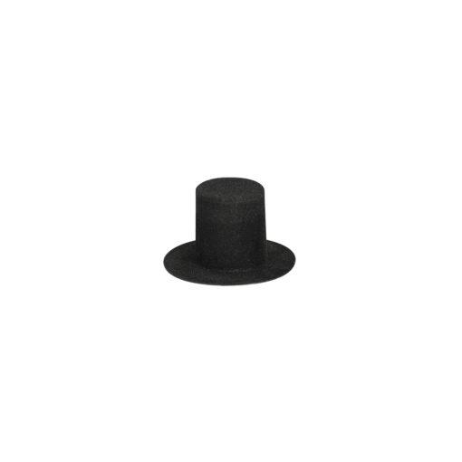 Velour Zylinder in schwarz
